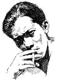 menyorot mata sang pujangga yang sedang menghirup asap rokok Surya